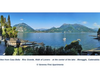Casa Riva in Varenna on lakeshore