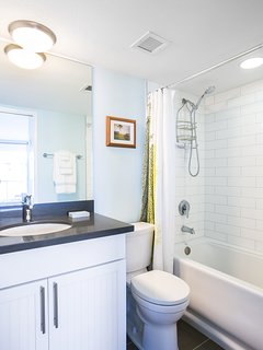 Fully remodeled master bath with shower & soaking tub