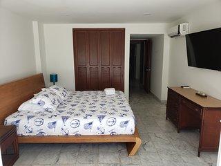 Habitación principal cama King, con balcón, vista al mar y Baño Privado (foto2)