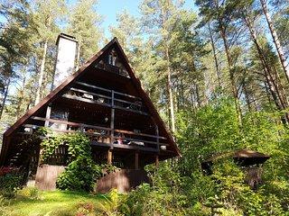 Ferienhaus Marianna am See Kalwa mit Sauna und Ruderboot