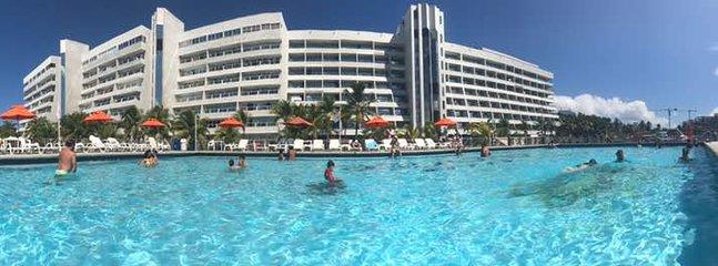 Foto panoramica desde la piscina