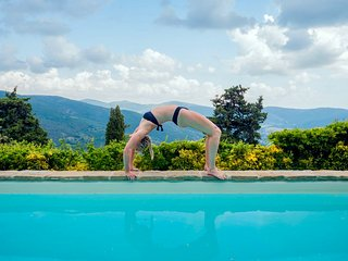 Yoga by the pool. Be inspired