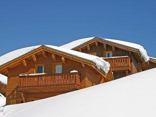 Grand Chalet 8p, depart et retour ski aux pieds