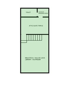 Villa Cal Pesolet Sketch: Second Floor (Attic)