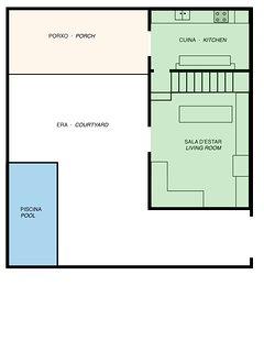 Villa Cal Pesolet Sketch: Ground Floor