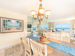 Views of the ocean from the kitchen, dining room & living room