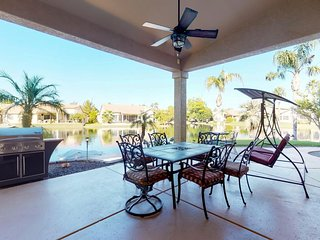 NEW LISTING! Lakefront home w/pedal boat, 270-degree views- near 9 golf courses