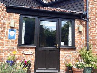 Corner front door