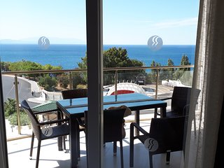 Private luxury apartment, Ramada Hotel and Spa resort with direct sea views.