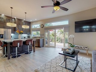 NEW LISTING! Newly renovated home w/outdoor fireplace, grill - close to beach