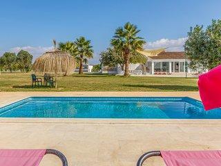 Villa Laufer,7500m flat garden, free private tennis court, pool,A/C,BBQ,Wifi