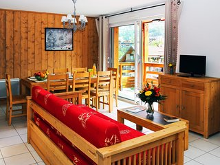 Appart Spacieux + Charmant 8p, pres des pistes, acces sauna