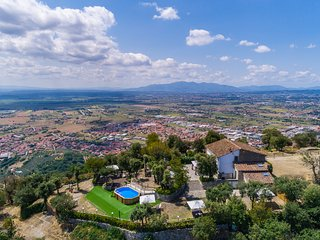 Private villa with unique view of the surrounding valley. A/C, Wi-Fi, pool!