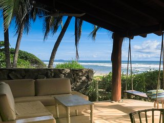 Beachfront 2 bdrm, 2 ba + 2 living areas + pool, on best swimming beach!