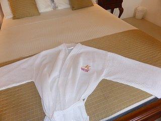 Luxury bathrobes available