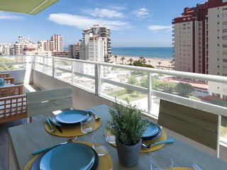Spacious apartment in the center of Grau i Platja with Lift, Internet, Washing m
