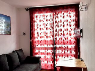 Cosy studio close to the center of Saint-Lary-Soulan with Parking, Internet, Bal