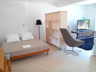 Spacious apartment close to the center of Furiani with Parking, Internet, Washin