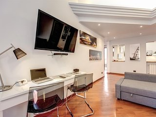 Spacious apartment in Rome with Internet, Washing machine, Air conditioning, Ter