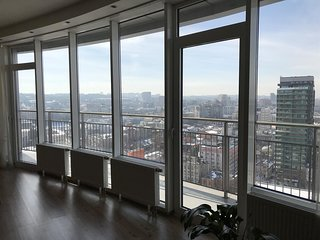 Spacious studio in the center of Dnepropetrovsk with Lift, Parking, Internet, Wa