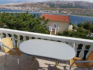 Cozy apartment in the center of Pag with Parking, Internet, Air conditioning, Ba
