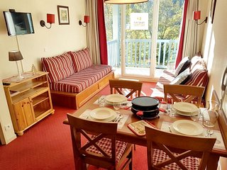 Cozy apartment in the center of Saint-Lary-Soulan with Parking, Washing machine,