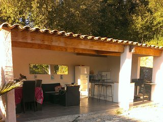 Spacious villa close to the center of Roquefort-les-Pins with Parking, Internet,