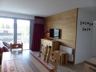 Appartement Neuf 3* Flaine Foret 2 chambres Plein sud, draps et menage inclus