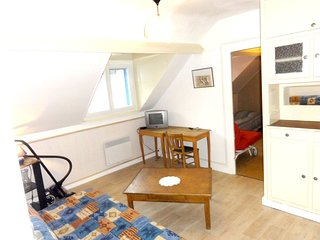 Cozy apartment in the center of La Bourboule with Parking, Internet, Garden