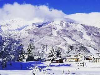 Hakuba Downtown Apartments. Stunning Alps views from stylish 2 Bedroom Apartment