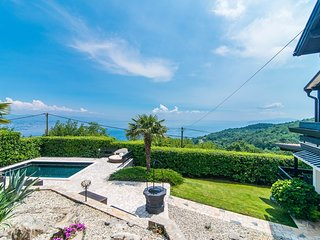 Spacious villa in the center of Veprinac with Internet, Washing machine, Pool, B