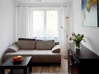 Cozy apartment in Szczecin with Lift, Parking, Internet, Washing machine