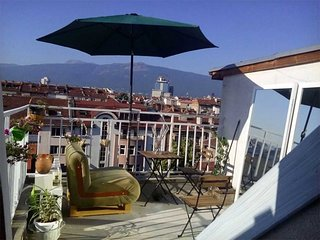 Rooftop apartment & huge terraces in perfect Sofia center
