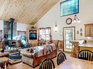 NEW LISTING! Dog-friendly cabin w/wood stove, hot tub & riverside firepit