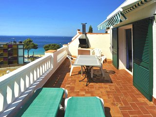 Spacious apartment a short walk away (88 m) from the 'Cala Almadrava' in Roses w