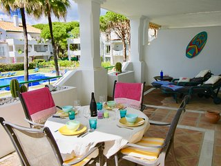El Presidente 2 bed apartment overlooking the heated pool