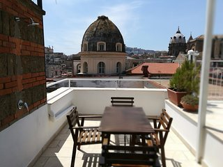 Historical Naples with panoramic terrace S