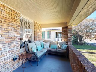 Contemporary and stylish dog-friendly home with a fenced yard and great location