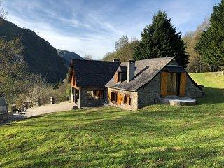 Grange rénovée avec vue panoramique sur la Vallée d'Ossau à 15 min des pistes