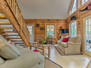 NEW! Lavish Bryson City Cabin w/Porch & Hot Tub!