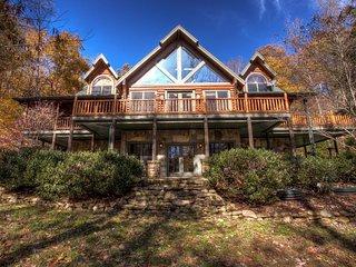 Three Creeks Lodge; Ultimate Timber Lodge luxury.  Hot tub, entertainment areas,
