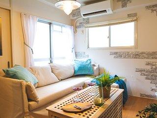 Cozy 2BD Room in Dotonbori Namba KP3