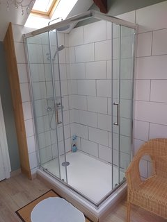 upper floor shower unit