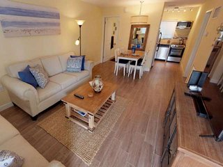3 Minutes to private beach access ! Newly Updated Beach Condo !  Pool, WiFi, Gri