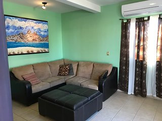 Two room furnished house, 300 meters from the beach, in a quiet area.