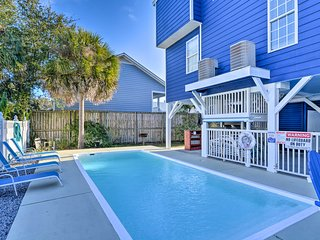 Home w/ Linens Included & Pool - 500 Ft to Beach!