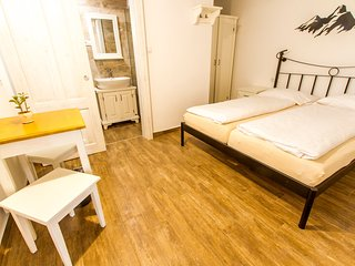 Spacious room in the center of Tolmin with Parking, Internet, Washing machine