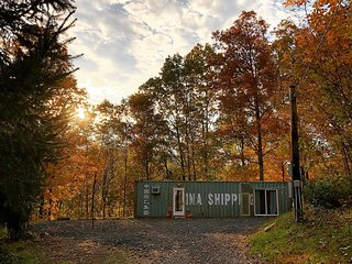 Riverside Hideout, A Tiny House Shipping Container