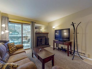NEW LISTING! Dog-friendly riverfront condo w/fireplace & patio-near town, slopes