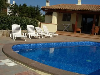 Tony upper part of a semi-detached villa with swimming pool